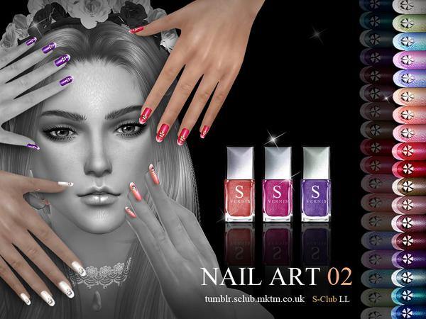 Nail Art N02 By S Club Ll At Tsr Sims 4 Updates