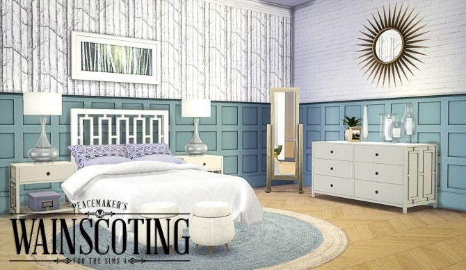 3d Wallpaper Designs For Hall Peacemaker S 3d Wainscoting At Simsational Designs 187 Sims