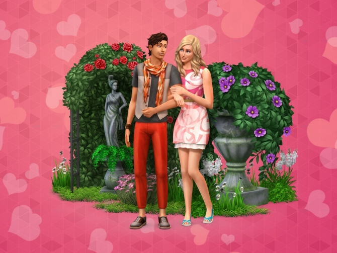 Toddler Girl Bedroom Wallpaper The Sims 4 Romantic Garden Pc Wallpapers At Simcookie