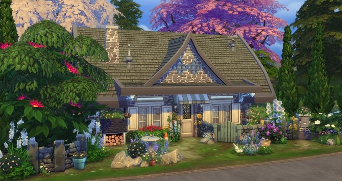Free Fall Wallpaper Images Fairy House At Studio Sims Creation 187 Sims 4 Updates