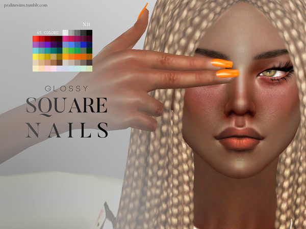 3d Wallpaper For Bedroom Walls Glossy Nail Pack By Pralinesims At Tsr 187 Sims 4 Updates