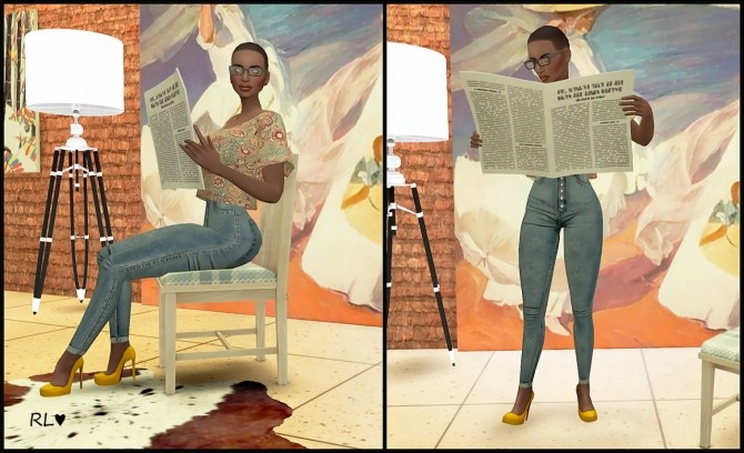 3d Wallpaper For Bedroom Walls Reading Newspaper Poses At Rethdis Love 187 Sims 4 Updates