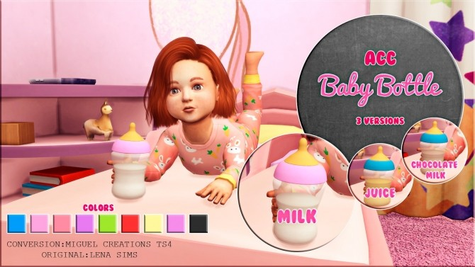 Toddler Girl Bedroom Wallpaper Baby Bottle Acc At Victor Miguel 187 Sims 4 Updates