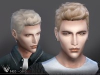 Hair OS1113 M by wingssims at TSR  Sims 4 Updates