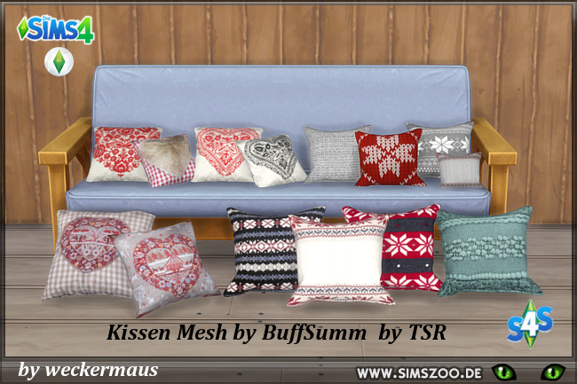 Pillows 2 3 By Weckermaus At Blackys Sims Zoo Sims 4