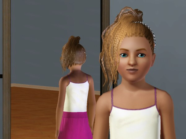 Braided Bundled and Beaded. 1024 x 768.Sims 3 Kids Hairstyles