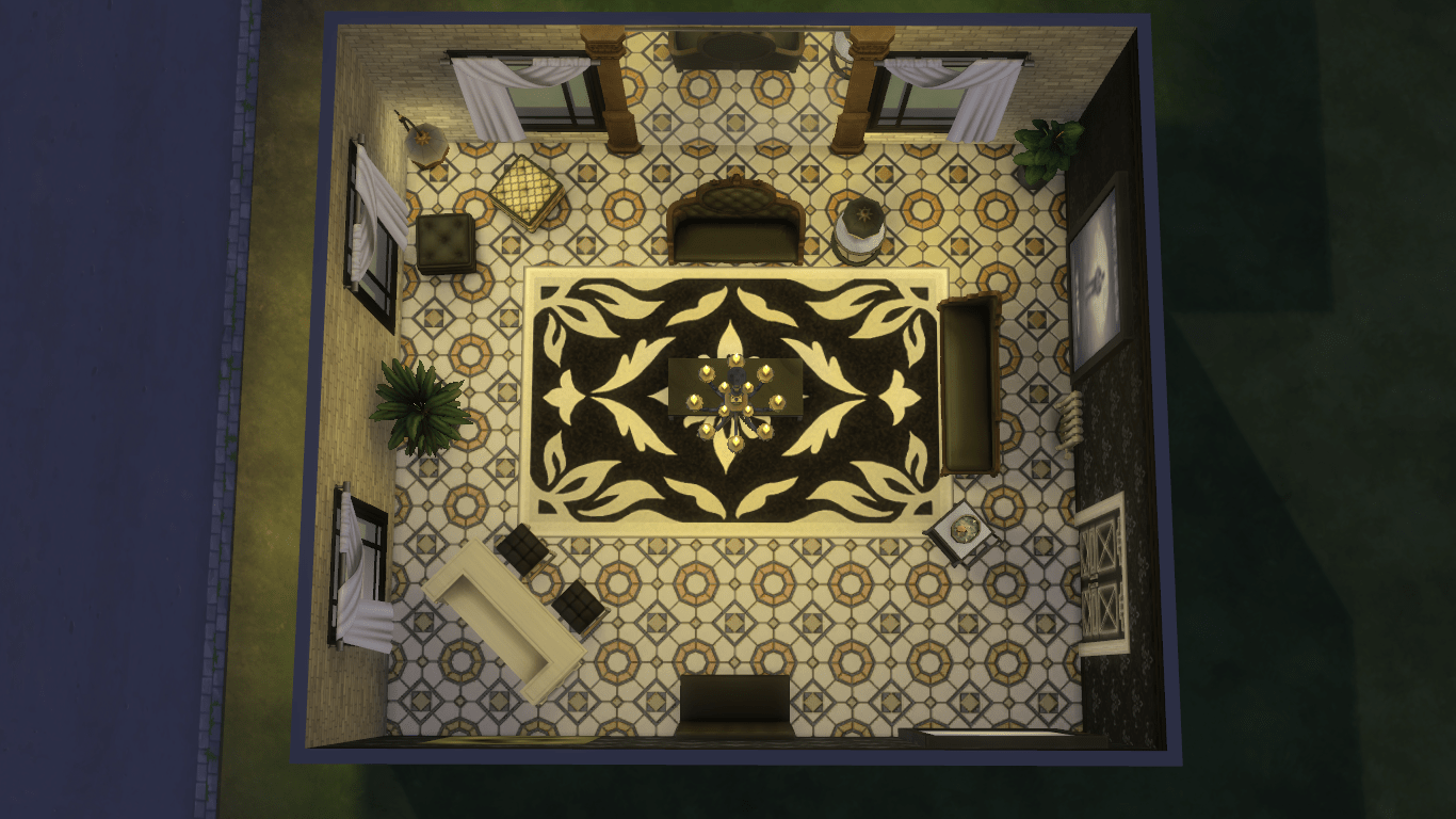 Art Deco Style Sofas Making The Most Of Build Mode In The Sims 4 Vampires | Simsvip