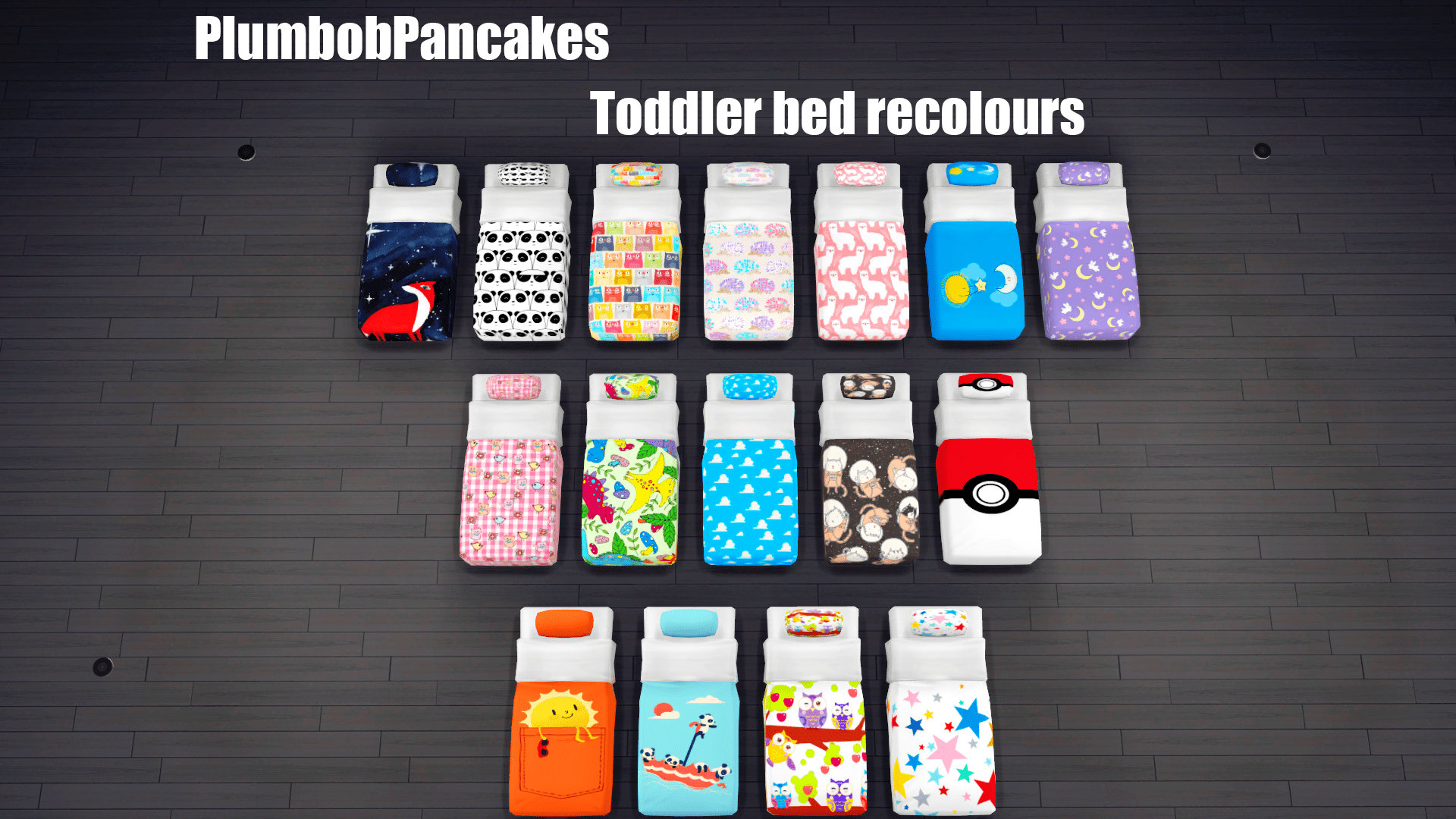 Baby Bed Toddler Mattress Recolours | Simsworkshop