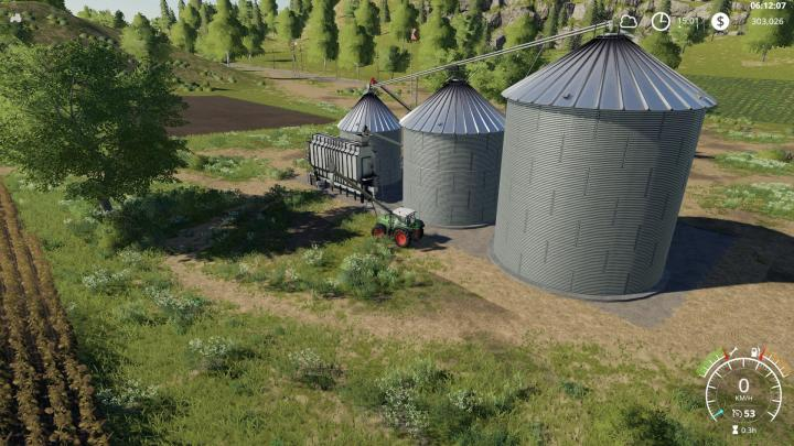 Car Zip Fs19 - Placeable Large Grain Silo V1.0.1.0 | Simulator