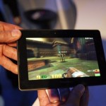 Vista frontal de la BlackBerry Playbook