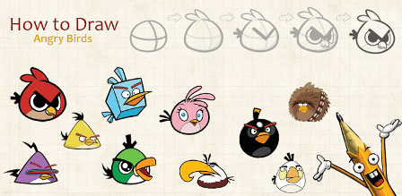 Dibujar a los personajes de Angry Birds