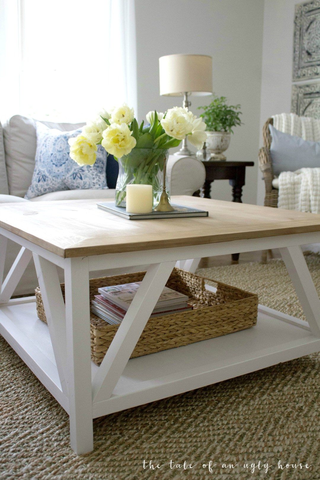 Square Coffee Table Plans Diy Modern Farmhouse Coffee Table Sincerely Marie Designs