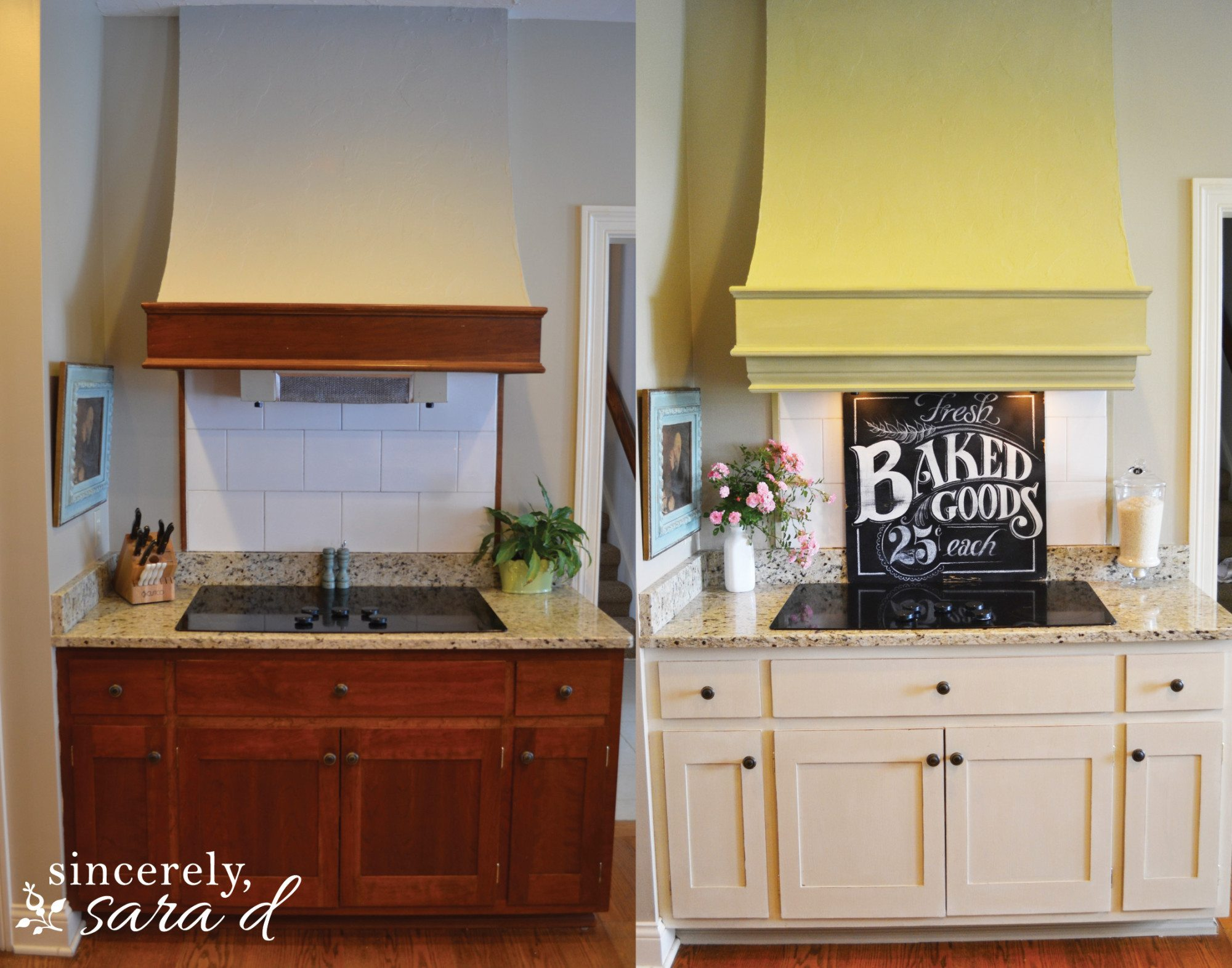painting kitchen cabinets final edition because im out of cabinets to paint chalk paint kitchen cabinets BeforeANDafter