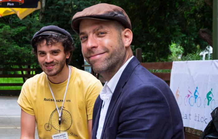 Benoit Beroud i Péter Dalos na Pedalafestu 2016