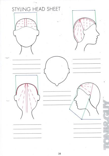 long layered haircut square diagram