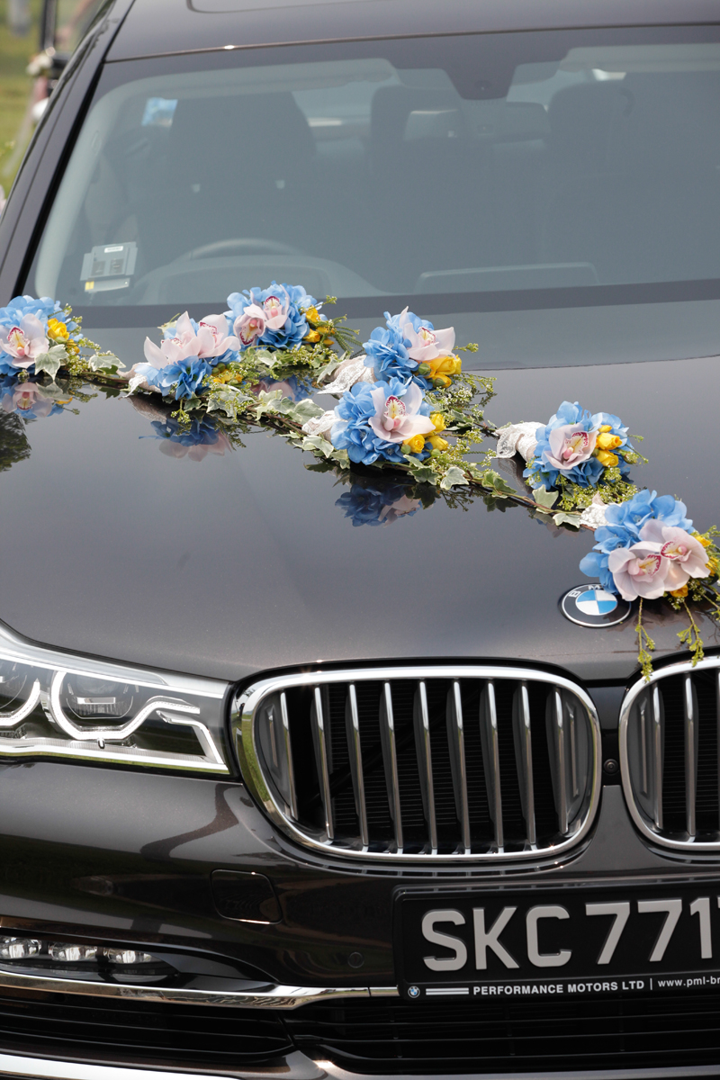 Car Decoration Weding Wedding Car Floral Inspirations With Fleur D Sign