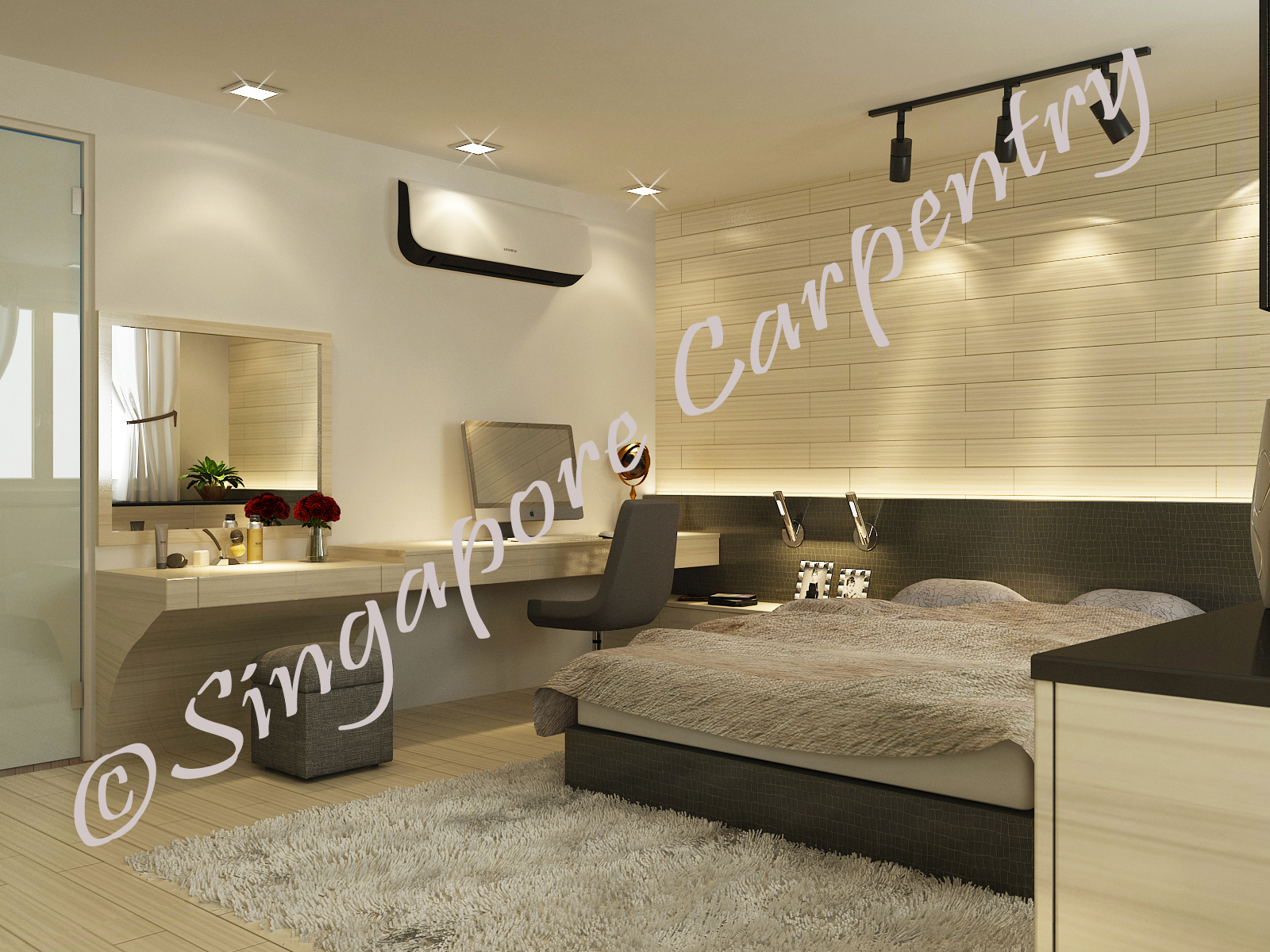 Dressing Table Designs For Master Bedroom Homey Singapore Carpentry