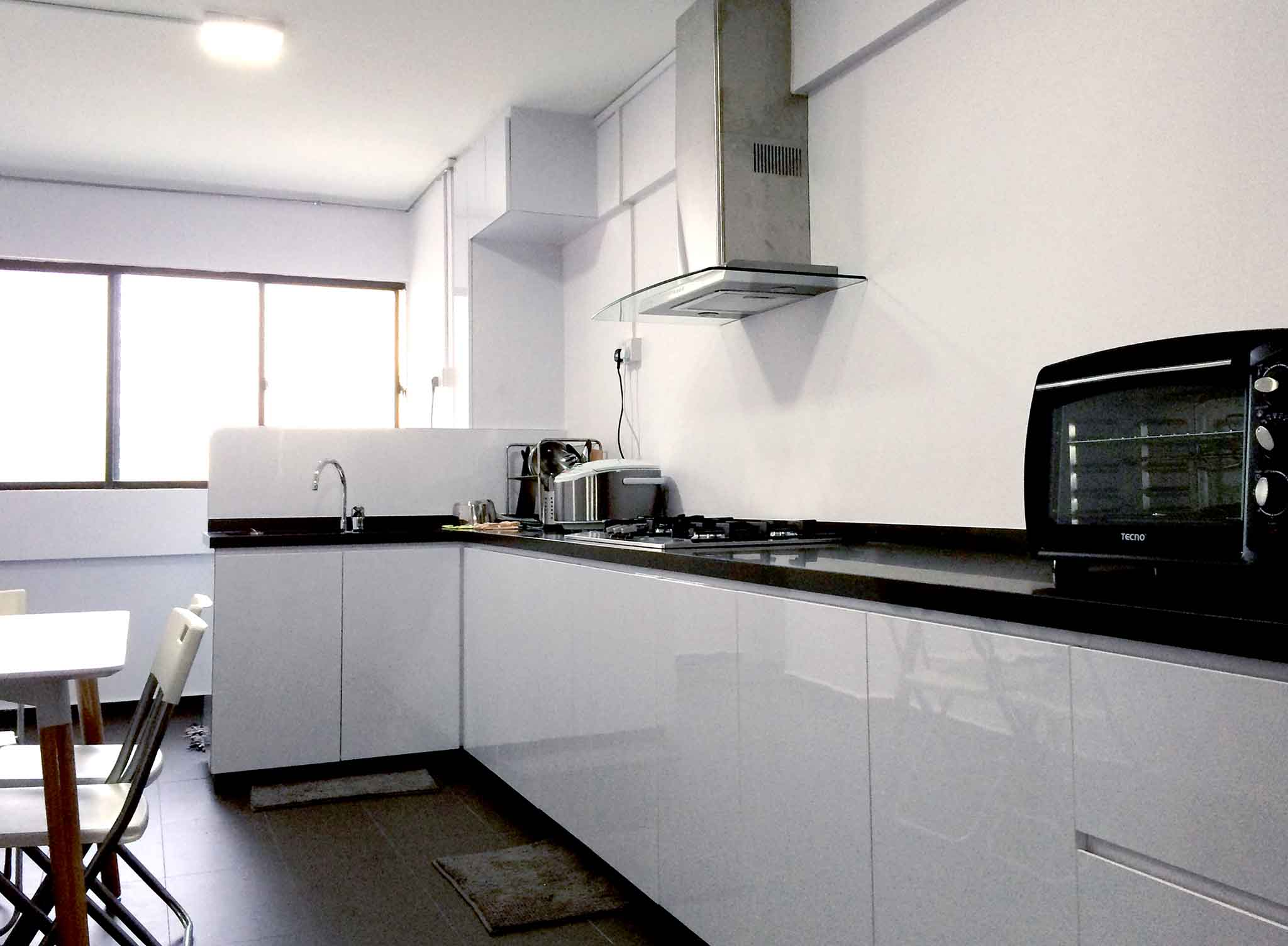 Full Height Kitchen Cabinets Hdb 4 Room Package Renovation Contractor Singapore