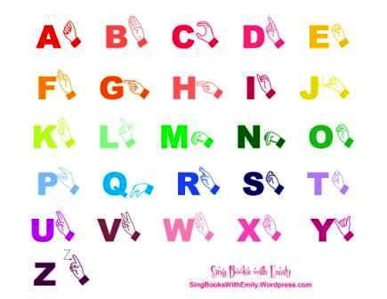 ABCs, the Alphabet Song, Illustrated Sing Books with Emily, the Blog - sign language alphabet chart