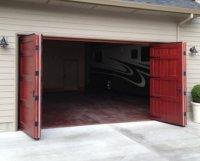 Bi fold Garage Door  Non-warping patented wooden pivot ...