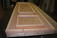 Custom Blocking  Non-warping patented wooden pivot door ...