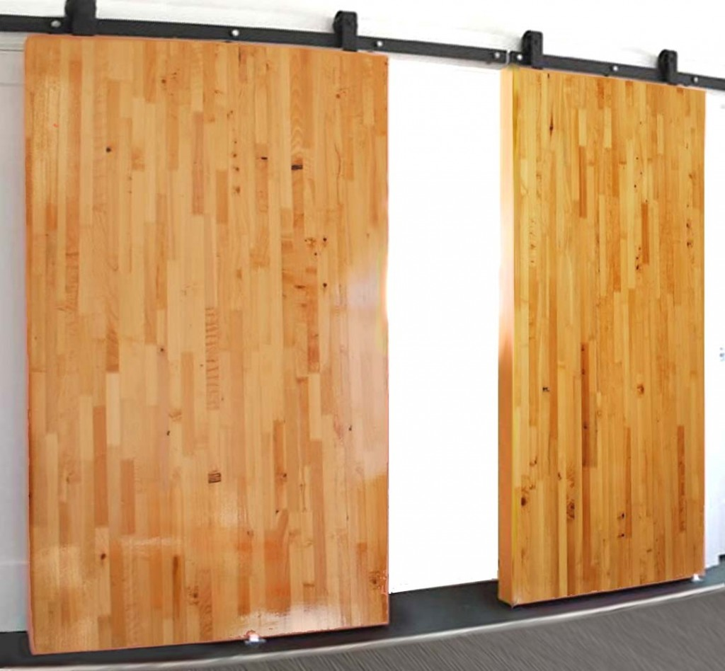 Masters External Doors Sliding Barn Doors Non Warping Patented Wooden Pivot