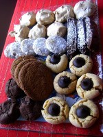 Cookie Care Packages: Peppermint Chocolate Divinity Cookies, Peanut Butter Blossoms, Triple Chocolate brownie cookies and MORE!
