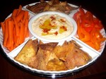 New Year's Eve Appetizers: Garlicky Hummus and Whole Wheat Pita Chips and Oatmeal Chocolate Chip Cookies