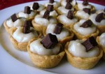 Coconut Custard Tarts with Dark Chocolate