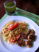 Green Papaya Salad with MATCH Mini Thai Crab Cakes