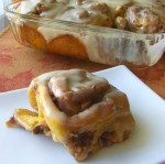 Pumpkin Pecan Cinammon Rolls with Cream Cheese Icing