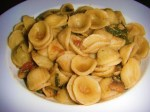 Orecchiette with Spinach in a White Wine Garlic Sauce
