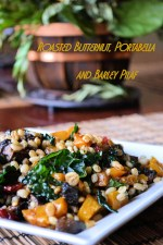 Roasted Butternut, Portabella and Barley Pilaf