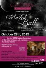 Fashion Friday & ConcertOPERA Masked Ball Fundraiser
