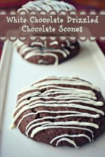Ghirardelli Giveaway + White Chocolate Drizzled Chocolate Scones