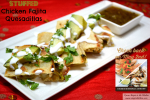 Stuffed Chicken Fajita Quesadillas #GoAuténtico