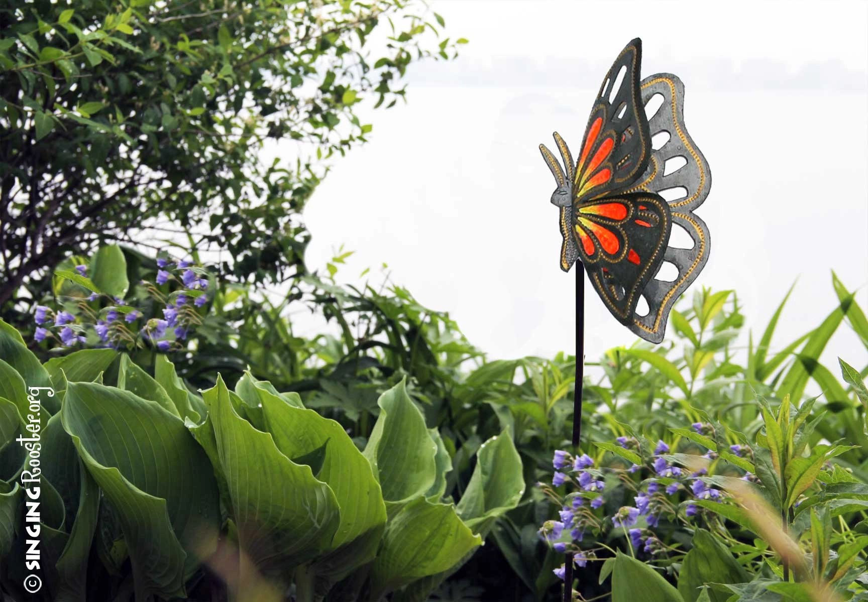 Red Rooster Coffee Garden Valley Buy Butterfly Garden Stakes Online Handmad Hand Painted