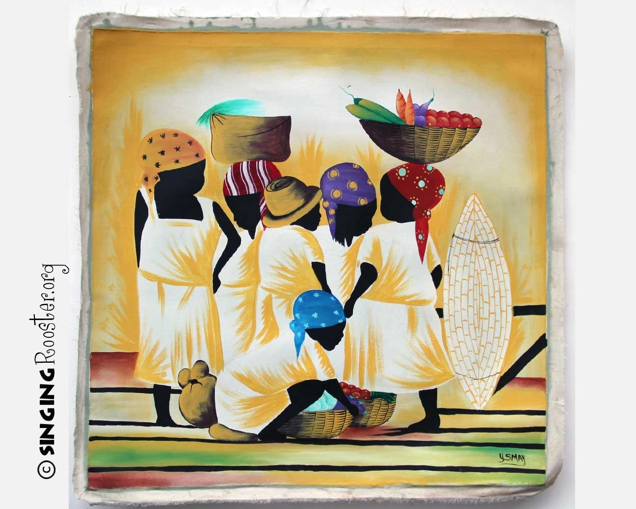 Buy Paintings Online Children 39s Market Day Haitian Painting Buy Online