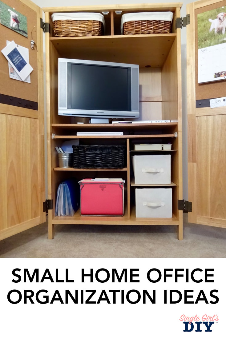Diy Small Entertainment Center Small Home Office Organization Ideas Single Girl S Diy