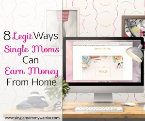 legit ways single moms earn money from home featured image