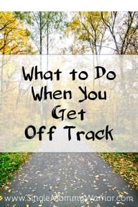 get off track
