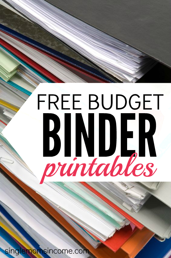 Budget Binder Printables - Single Moms Income