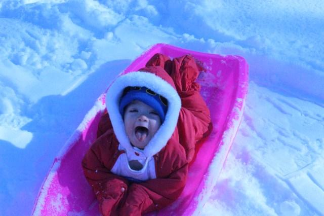 2013 Spring Seth on sled