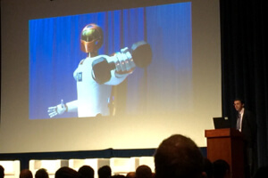 Robonaut: The first humanoid robot in space engineered by NASA and GM . The highly dexterous robot helps with everything from housekeeping to detecting ammonia leaks.