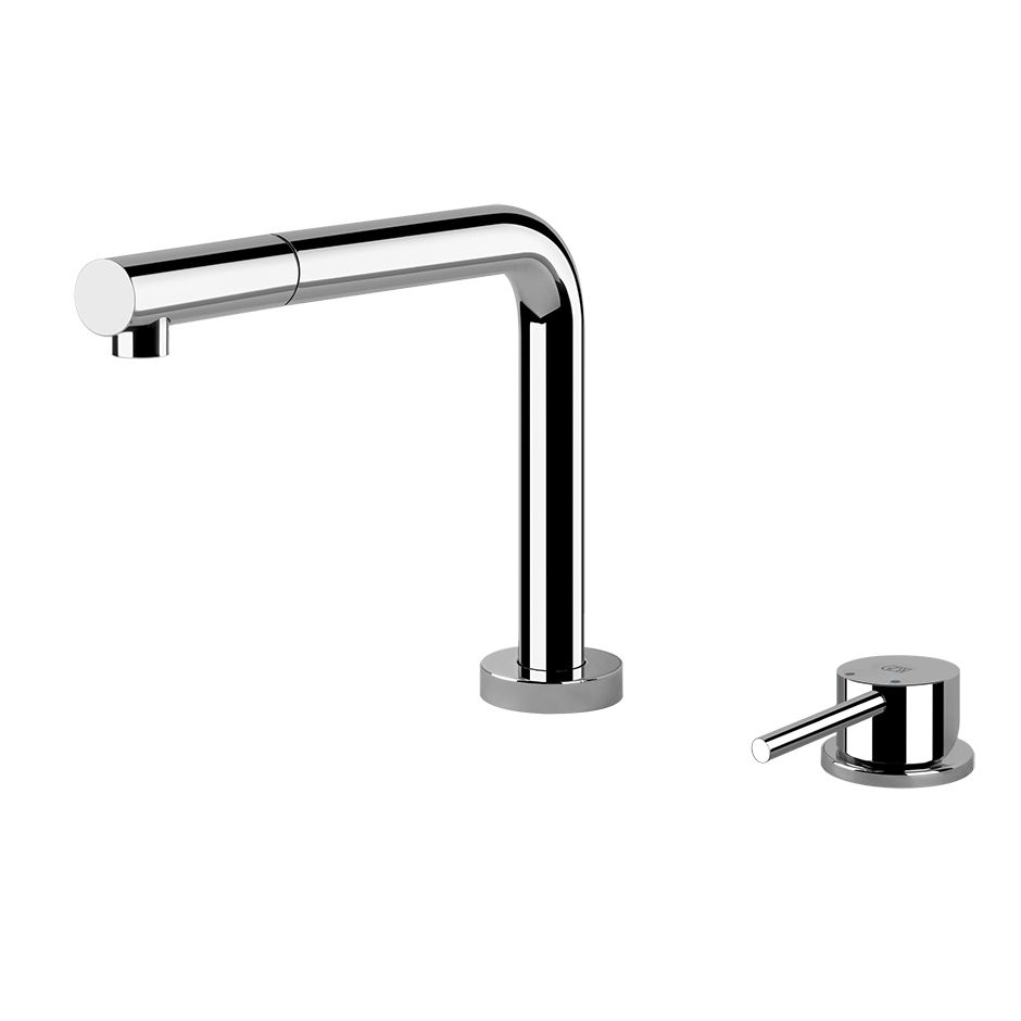 Kitchen Mixer Tap Gessi Logic 2 Hole Kitchen Mixer Tap With 3 Positions And Pull Out Rinse
