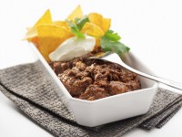 Chili con carne with nachos