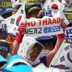 Anti-THAAD protest in Seoul on July 21, 2016.   Image: Xinhua