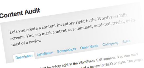 WordPress Plugins for Writers: Content Audit