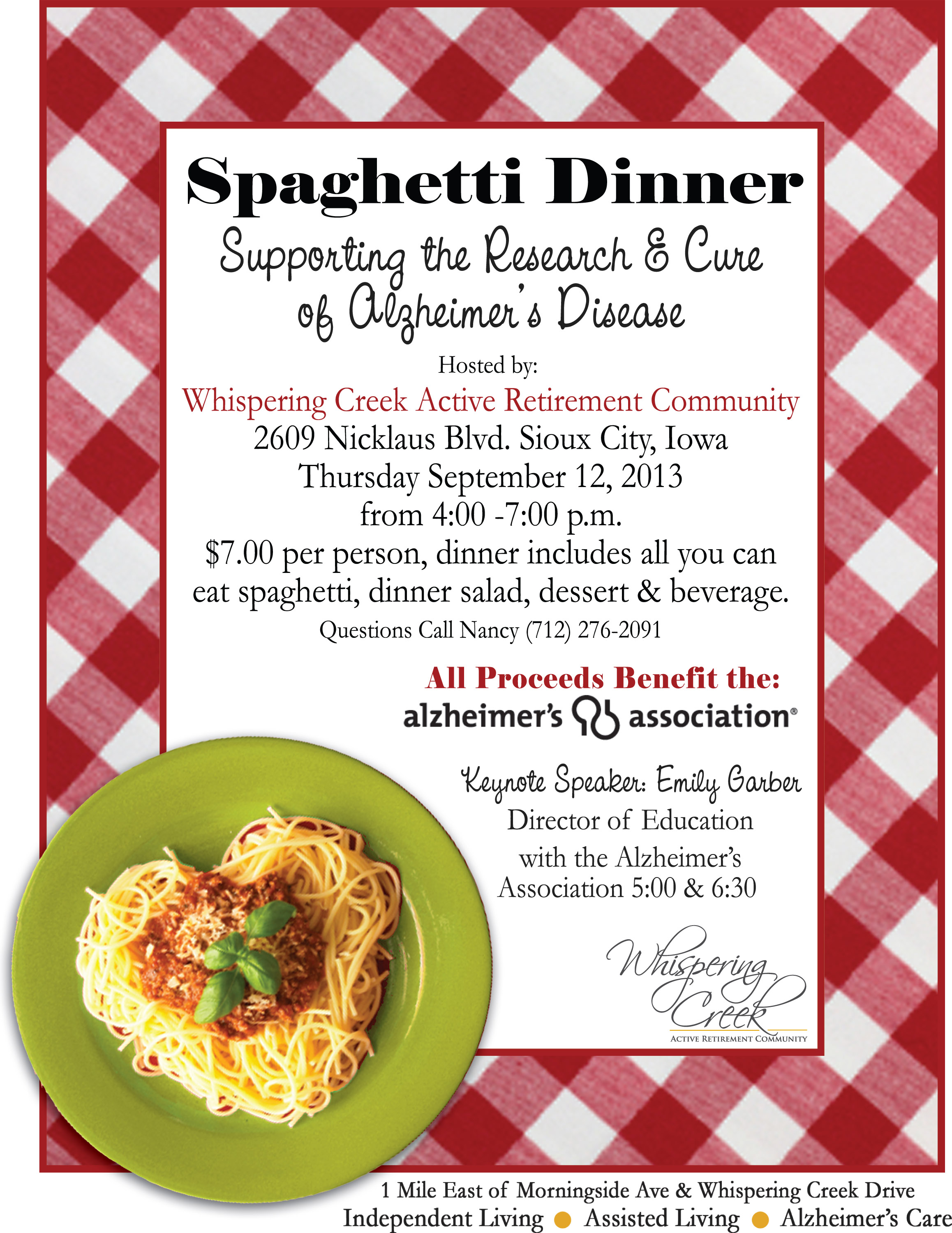 Spaghetti Dinner Flyer Template – Benefit Flyer Template