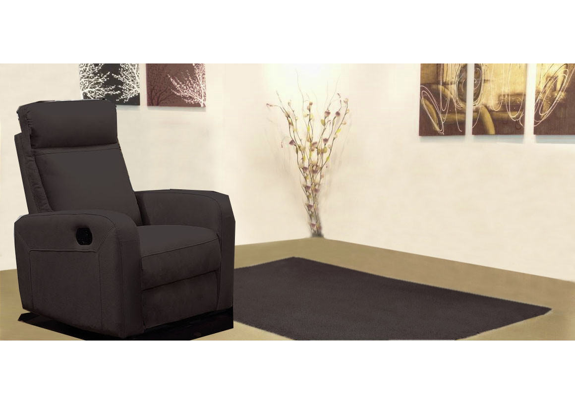 Fauteuil Relax 1 Place Fauteuil 1 Place Relax Bergame Nubuc Marron